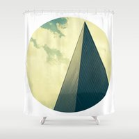 denver Shower Curtains featuring denver by MARONEY