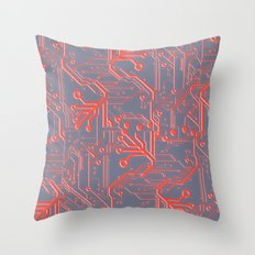 1982 Red Throw Pillow
