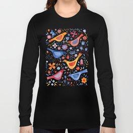 Birds in a Garden Long Sleeve T-shirt