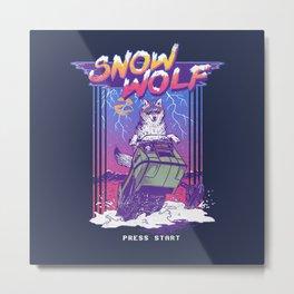 Snow Wolf Metal Print