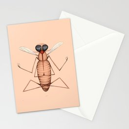 meditating mosquito pink Stationery Cards