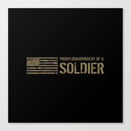 Proud Grandparent of a Soldier Canvas Print