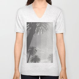 Black and White Palm Unisex V-Neck