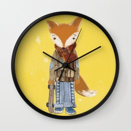 Fox Boy Wall Clock