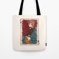 chihiro Tote Bags featuring The Chihiro of Hearts by Dampho