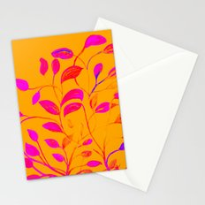 Peaches and Cream Red Leaves Stationery Cards