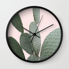 Cactus Pink Photography Wall Clock