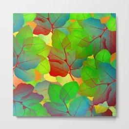 Colored Leaves Metal Print