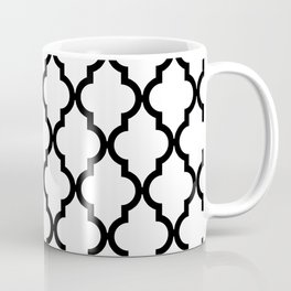 Moroccan Quatrefoil Pattern: Black & White Coffee Mug