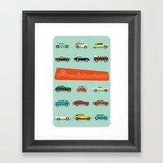 Vintage Automobiles Framed Art Print