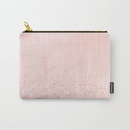 Blush Glitter Pink Carry-All Pouch