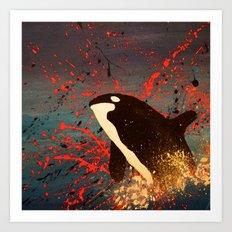 Whale Outbreak Art Print