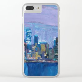 Sydney Skyline with Opera at Dusk Clear iPhone Case