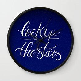 Look up at the stars Wall Clock