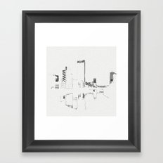 BROKEN CITY Framed Art Print