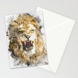 Wild Lion Stationery Cards