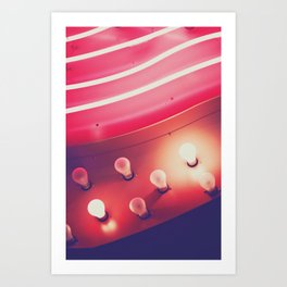 Pink Neon Glow Art Print
