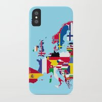 europe iPhone & iPod Cases featuring Europe flags by SebinLondon