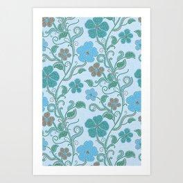 Dotty mosaic pattern Art Print