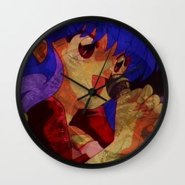 ShampooBG65 - Her Voice Renders Me Happy Wall Clock