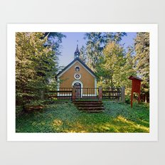 The pilgrim church of Ramersberg I | architectural photography Art Print