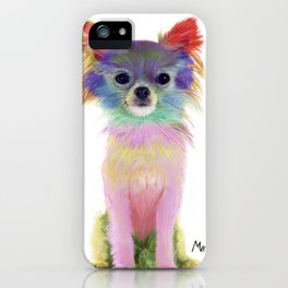 Colorful Chihuahua iPhone Case