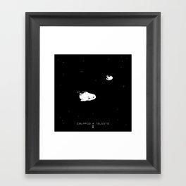CALYPSO & TELESTO Framed Art Print