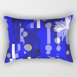 Through the Blue Rectangular Pillow