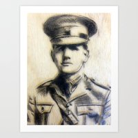 soldier Art Prints featuring Soldier by Tamsin Wildy