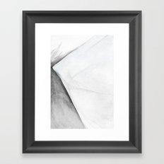 Shale Square Geometry Framed Art Print