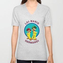Los Mario Hermanos Unisex V-Neck
