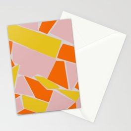 Abstract mosaic pink and yellow Stationery Cards