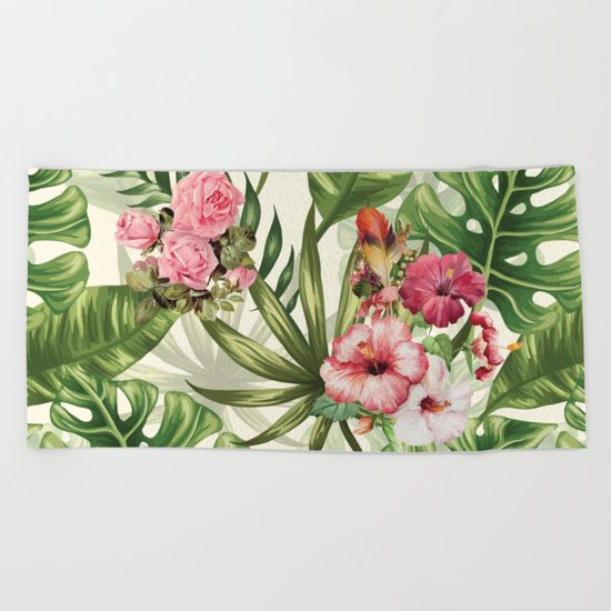 Tropicana Pattern Beach Towel