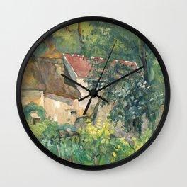 Paul Cézanne, House of Père Lacroix (1873). Old french farm house. Wall Clock