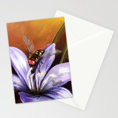 Fly on flower 10 Stationery Cards