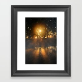 Hazy River Sunrise Framed Art Print