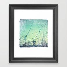 sea plants (teal) Framed Art Print