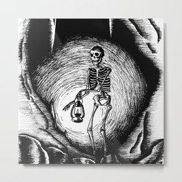Death and light Metal Print