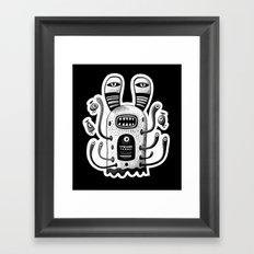 Rabbit Wormed (BW) Framed Art Print