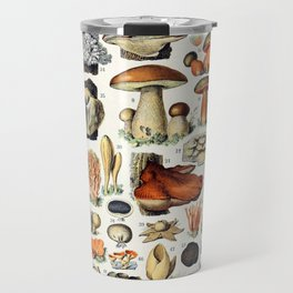 Adolphe Millot - Champignons A - French vintage poster Travel Mug