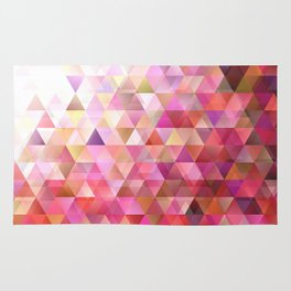 Geometric Abstract Gradient Triangle Pattern Background Rug