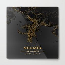 Noumea, New Caledonia - Gold Metal Print
