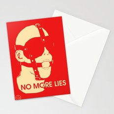 No More Lies Stationery Cards