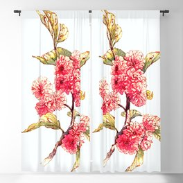 Apple Blossoms Blackout Curtain