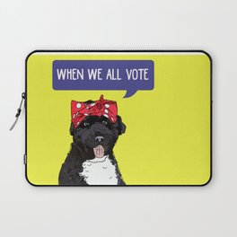 Political Pups - When We All Vote Laptop Sleeve