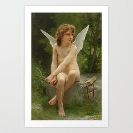 """William-Adolphe Bouguereau """"Love on the Look Out"""" Art Print"""
