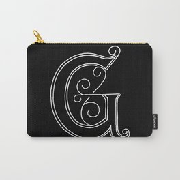 G - Letter Collection Black Carry-All Pouch