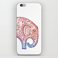 elephants iPhone & iPod Skins featuring Elephants by Alibabaform
