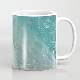 Cliff and Glittering Ocean Water Coffee Mug
