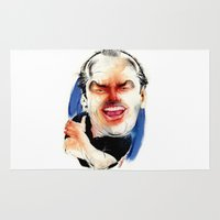 jack nicholson Area & Throw Rugs featuring Jack Nicholson by drawgood